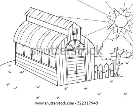 Hangar For Food Animals Barn Vector Illustration Of