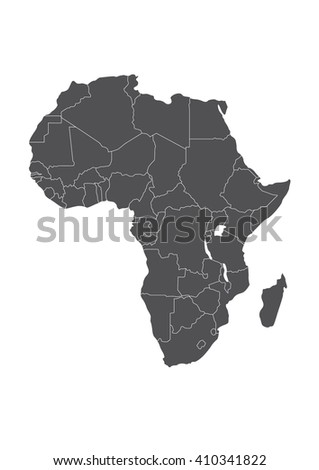The map of Africa. (Vector) - stock vector