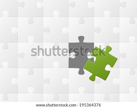 the matching puzzle piece - stock vector