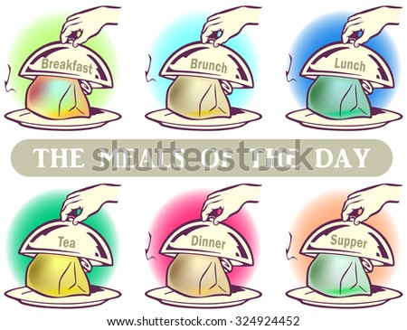 The meal of the day clip-art - stock vector