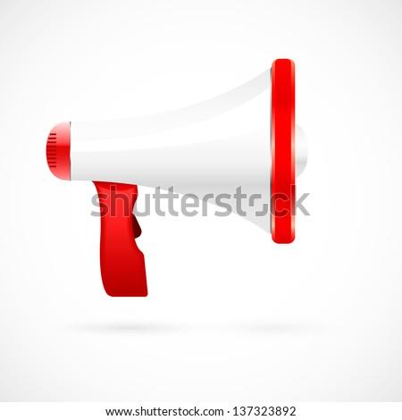 The megaphone icon - stock vector