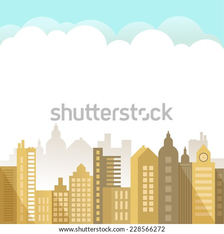 The Modern Town - stock vector