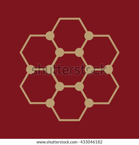 The molecule icon. Atom and chemistry, dna, physics symbol. Flat Vector illustration - stock vector