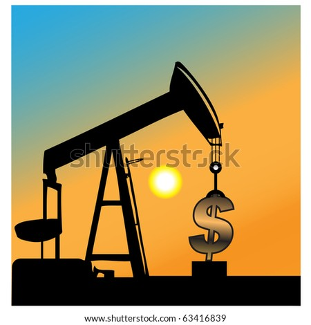 The monetary pump.Vector - stock vector
