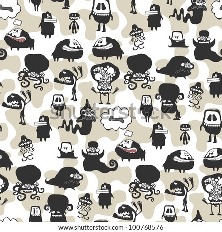 The monster seamless texture. Vector illustration
