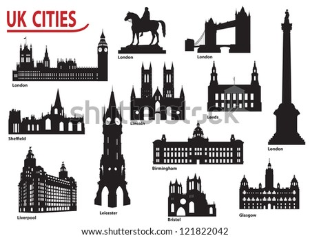 The most famous building in the city of Great Britain - stock vector