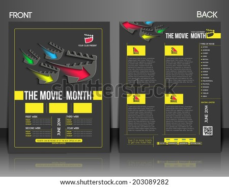 the movie month front back flyer template