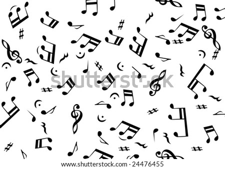 The Musical Notes Vector Background