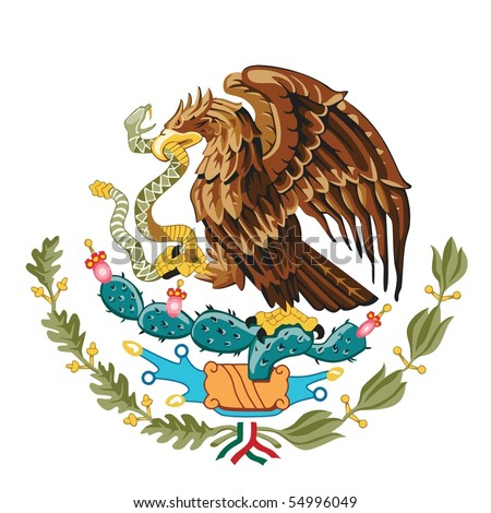 The national arms of Mexico