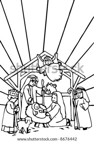 The Nativity - stock vector
