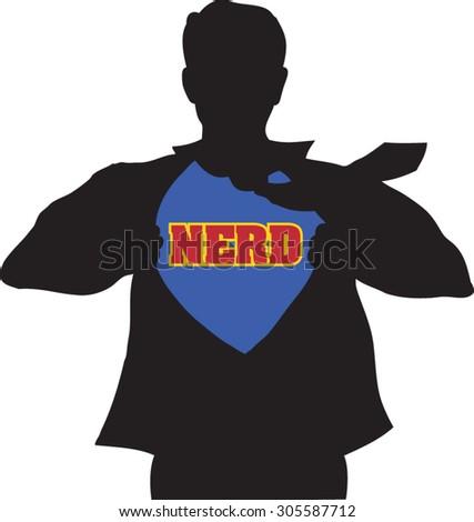 the nerd - stock vector