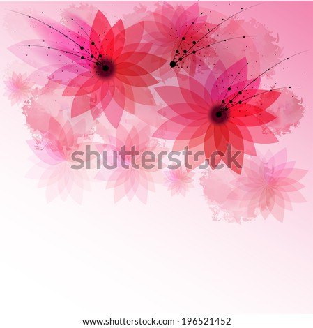 The nice illustration of pink flowers