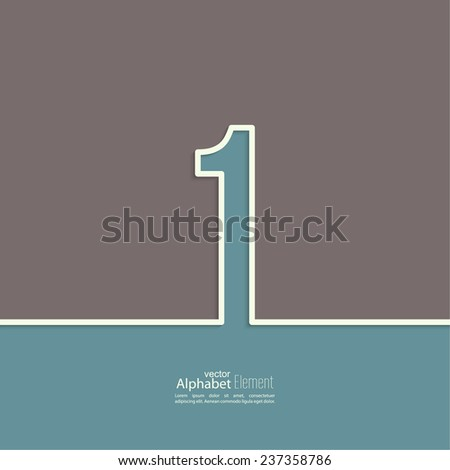 The number 1. one. abstract background. Outline. Logo or corporate identity - stock vector