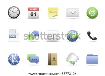 The Office Icon Set. - stock vector