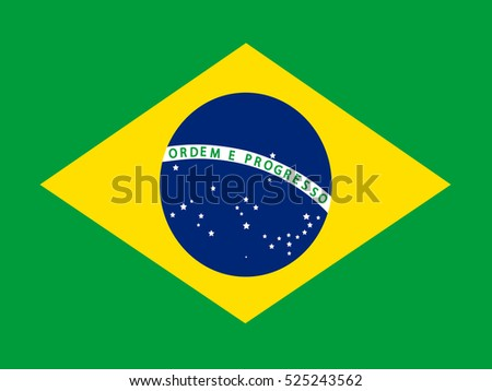 The official flag of Brazil.
