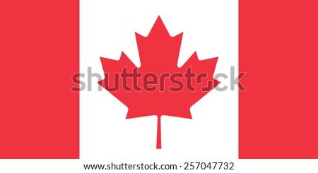The official flag of Canada in both color and proportions