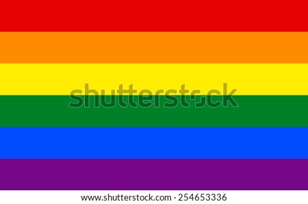 The official flag of Gay Pride Movement in both color and dimensions
