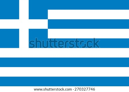 The official flag of Greece in both color and proportions - stock vector