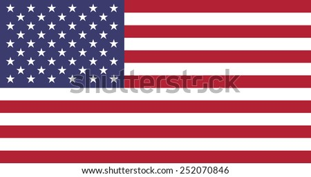 The official flag of the United States of America made to goverment specifications in both size and color - stock vector
