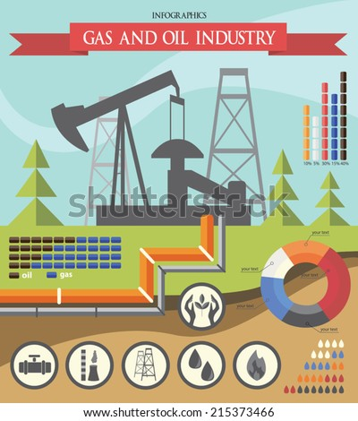 the oil and gas industry - stock vector