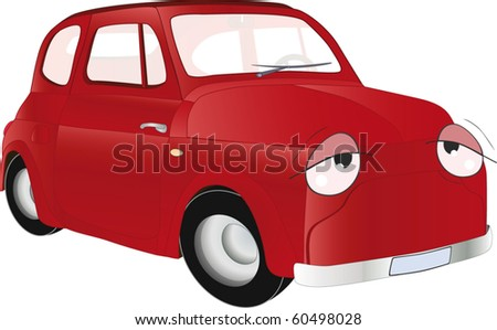 The old car from a fairy tale - stock vector