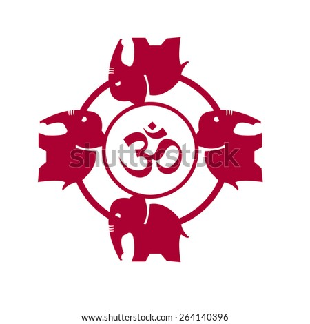 The Om icon - stock vector