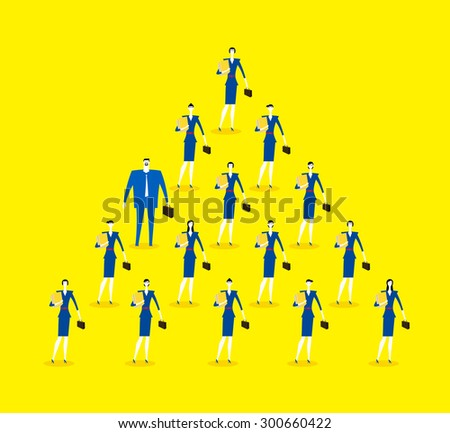 The only one of male - stock vector