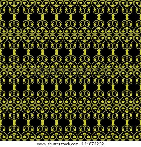 The original design on a black background - stock vector