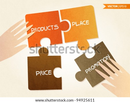 The 4 P's Of Marketing - stock vector