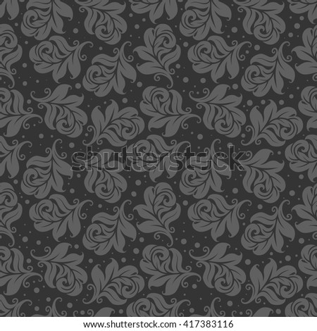 The pattern for the fabric. Pattern seamless. Gray pattern. Background gray. Vector. Pattern for wallpapers. Pattern for textiles. - stock vector