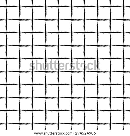 The pattern in the cell grid of curved lines, seamless vector background. - stock vector
