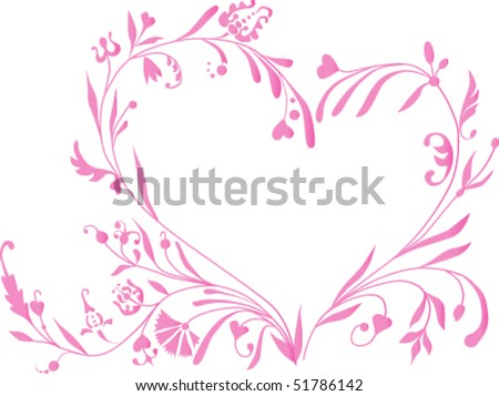 The pattern in the shape of the heart. Can be used as fully or partially. It is easy to change. - stock vector