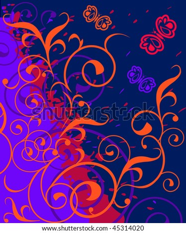 The pattern on the background of the dying fire - stock vector