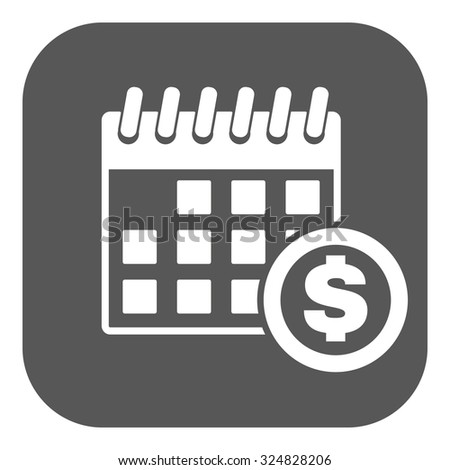 The pay day icon. Tax and payment, dividends symbol. Flat Vector illustration. Button - stock vector
