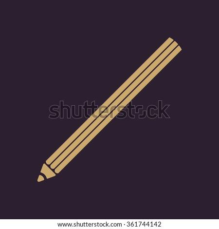 The pencil icon. Pencil symbol. Flat Vector illustration - stock vector