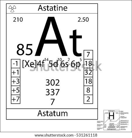 Periodic table element astatine basic properties stock photo photo the periodic table element astatine with the basic properties urtaz Image collections