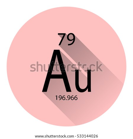 Periodic table element silver basic properties stock vector the periodic table element gold with the basic properties flat style with long shadow urtaz Gallery