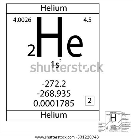 Periodic table element helium basic properties stock vector 2018 the periodic table element helium with the basic properties urtaz Image collections