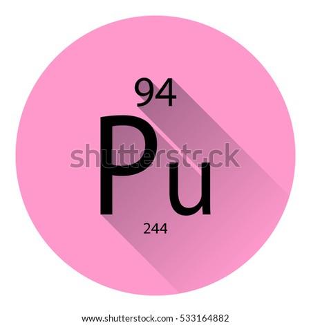 Periodic Table Element Plutonium Basic Properties Stock Vector