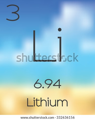 The Periodic Table of the Elements Lithium - stock vector