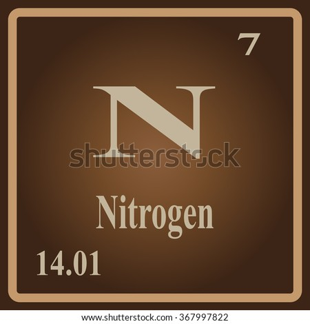 The Periodic Table of the Elements Nitrogen - stock vector