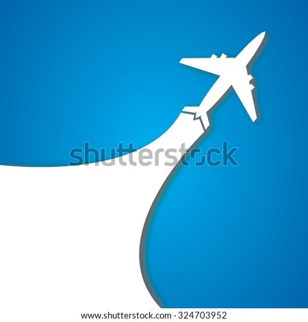 The plane - stock vector