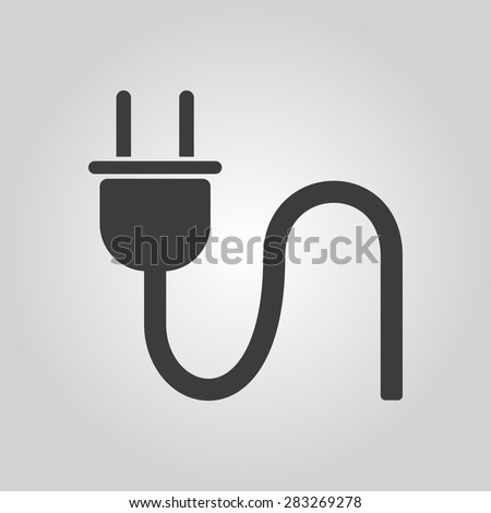 Plug Icon Electric Symbol Flat Vector Stock-vektorgrafik 283269278 ...