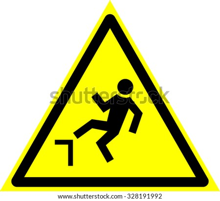 the possibility of falling from height, the possibility fall from a height - stock vector
