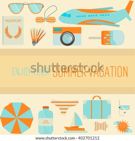 poster enjoy your summer vacation summer stock vector royalty free