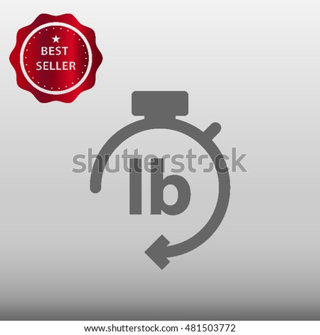 Pound Weight Symbol Vector Icon Illustration Stock Vector 481503772