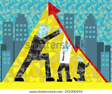 the power of Teamwork in company - stock vector