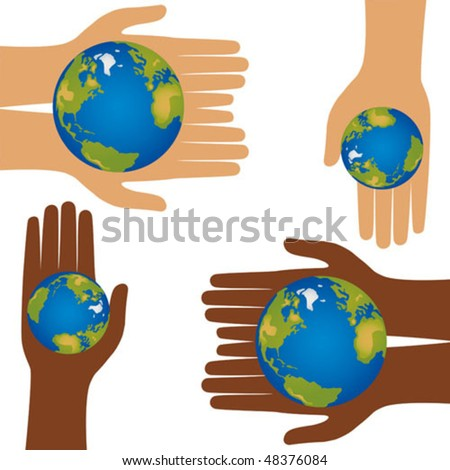 The precious Earth in someone's hands.