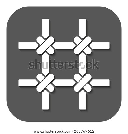 The prison bars icon. Grid symbol. Flat Vector illustration. Button - stock vector