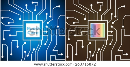 The processor chip. - stock vector